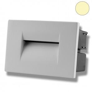 LED Wandeinbauleuchte für den Innen-/Außenbereich in Silber, 3W, warmweiß-35637