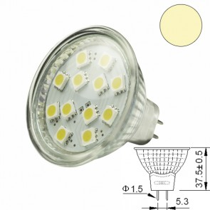 LED-Spotlight Strahler MR16 12SMD 2 Watt, warmweiss-31001