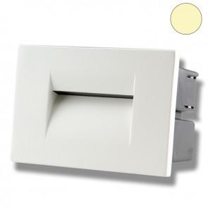 LED Wandeinbauleuchte für den Innen-/Außenbereich in Weiß, 3W, warmweiß-35636