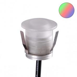 LED PC-Einbaustrahler, 0,6 Watt, IP67, 12V/DC, RGB-35222