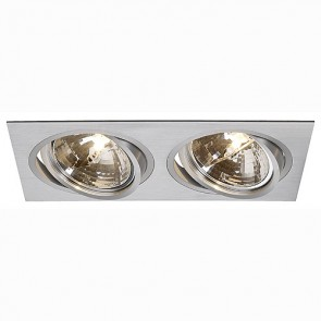 NEW TRIA II QRB Downlight, rechteckig, alu brushed-342111372