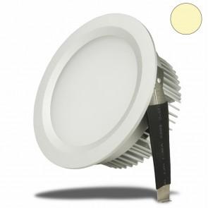 LED Einbaustrahler, 9W, milchig, weiß, warmweiß-35034