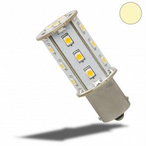 LED BA15S Leuchtmittel, 10-30V/DC, 18SMD, 2,4 Watt, warmweiss-35149
