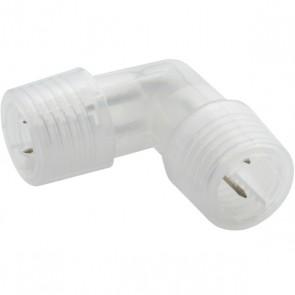 Eckverbinder für Lichtschlauch Rund 13mm transparent-33439