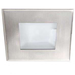 Einbaustrahler QUAN, quadratisch, Gu4, Alu geb., Glas satin-32575
