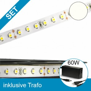 SET LED STD-Flexband neutralweiss + 60W Trafo-39257