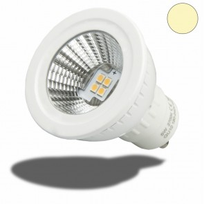 GU10 LED Strahler weiss, 5W SMD, 70°, warmweiss, dimmbar-35051