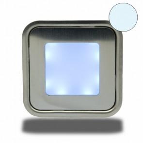 """LED Bodenstrahler """"EASY-LIGHT"""", quadr., IP54, edelstahl, kaltweiß-32729"""