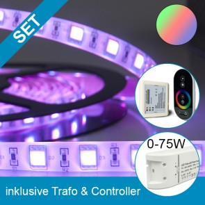SET Silikon-Flexband + 75W Trafo + RGB Controller-39269