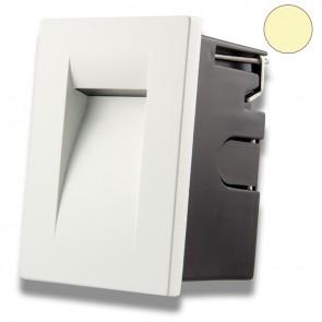 LED Wandeinbauleuchte für den Innen-/Außenbereich in Weiß, 3W, warmweiß-35639