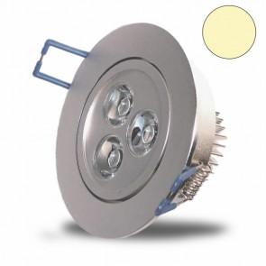 High Power 3x1 Watt LED Einbauleuchte, warmweiß-31007