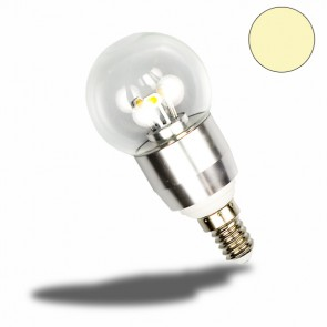 E14 LED Birne, 3 Watt, klar, warmweiss, dimmbar-32635