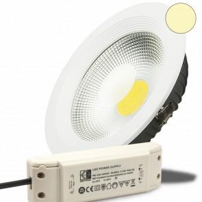 LED Einbaustrahler COB, 30W, weiß, warmweiß-35000