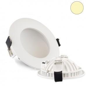 LED Einbauleuchte Moon, 6W, weiß, warmweiß-35427