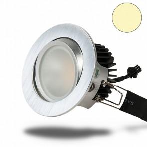 LED Einbaustrahler COB 68, Alu gebürstet, 8W, warmweiß-35009