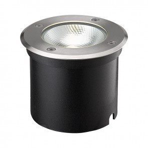 LED Bodeneinbaustrahler, rund Edelstahl, IP67, 6W COB, 90°, warmweiss-35213