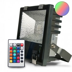 LED Fluter 30Watt, RGB, grau inkl. Funk-Fernbedienung-32985