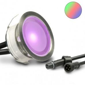"""LED Bodenstrahler """"EASY-LIGHTEYE"""", rund, IP67, Edelstahl, RGB-32752"""