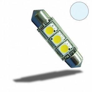 LED Soffitte 37mm 10-30V/DC, 3SMD, 1 Watt, Kaltweiß-32523