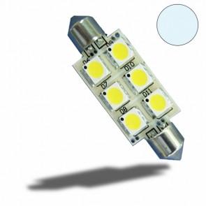 LED Soffitte 37mm 10-30V/DC, 6SMD, 1 Watt, Kaltweiß-32521