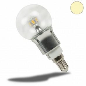 E14 LED Birne chrom, 5 Watt, klar, warmweiss, dimmbar-35043