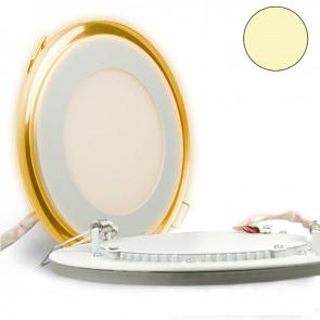 "LED Effekt-Glas Einbaustrahler 2-farbig ""WARMWEIß/ORANGE"", 15W, weiß-35295"