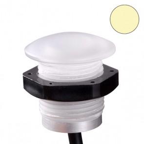 LED PC-Einbaustrahler mit Kontermutter, 0,6 Watt, IP67, 12V/DC, warmweiss-35223