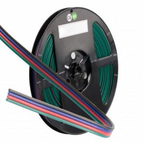 RGB Kabel, 4-polig, Farbkennzeichnung, 4x0,5mm², 1 Bund = 10m-35324