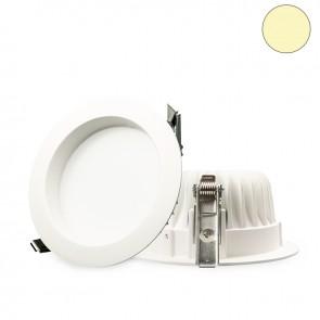 LED Einbaustrahler diffusor 10W, weiß, warmweiß, dimmbar-32639