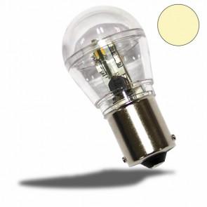 LED BA15S Birne, 10-30V/DC, 16SMD, 0,7 Watt, warmweiß-32483