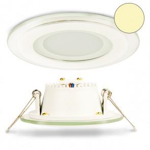LED Einbaustrahler Glas, 6W, 120°, inkl. Trafo, warmweiß-32833