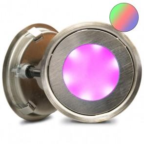 """LED Bodenstrahler """"EASY-LIGHT-OUT"""", rund, IP67, Edelstahl, RGB-32747"""