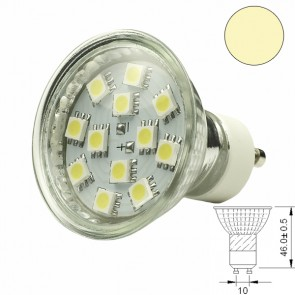 LED-Spotlight Strahler GU10 12SMD 2 Watt, warmweiss-31013