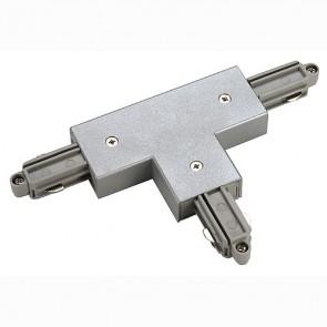 T-Verbinder für 1-Phasen HV-Stromschiene, Schutzleiter rechts, silbergrau-342143082