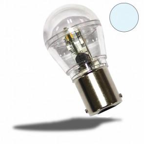 LED BA15D Birne, 10-30V/DC, 16SMD, 0,7 Watt, kaltweiß-32486
