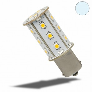 LED BA15S Leuchtmittel, 10-30V/DC, 18SMD, 2,4 Watt, kaltweiss-35152