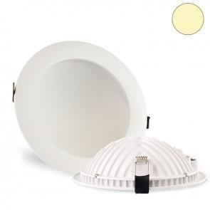 LED Einbauleuchte Moon, 18W, weiß, warmweiß-35431