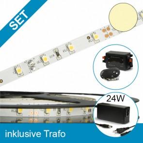 SET LED STD Flexband warmweiss + 24W Trafo + Controller-39284