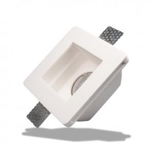 Gips-Einbaustrahler GX5,3, quadratisch, rückversetzt, weiss-35074