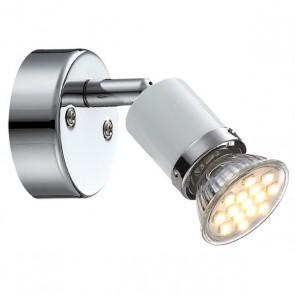 Wandleuchte FINA WL chrom, weiß, 1xGU10 LED-34557996-1