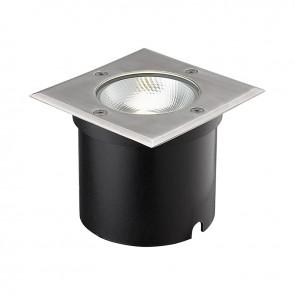 LED Bodeneinbaustrahler, quadr. Edelstahl, IP67, 6W COB, 90°, warmweiss-35214