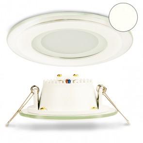 LED Einbaustrahler Glas, 6W, 120°, inkl. Trafo, neutralweiß-32834