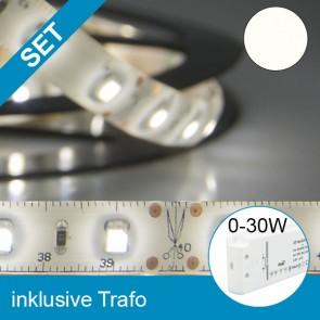 SET LED Silikon-Flexband neutralweiss + 30W Trafo-39249