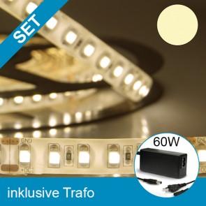 SET LED Silikon-Flexband warmweiss + 60W Trafo-39255