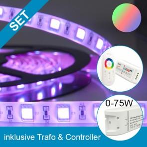 SET Silikon-Flexband + 75W Trafo + RGB Controller-39270