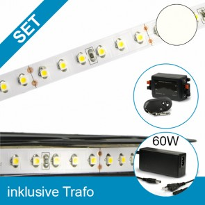 SET LED STD-Flexband neutralweiss + 60W Trafo + Dimmer-39261