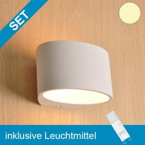 LED Gipsleuchte oval mit tauschbaren G9 Leuchtmittel 2W MINI COB warmweiss-39273