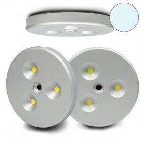 LED Einbau-/Anbau Leuchtenset, 3er, inkl. Trafo/Kabel kaltweiss-32297