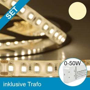 SET LED Silikon-Flexband warmweiss + 50W Trafo-39251