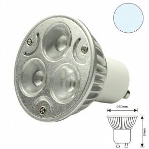 LED-Spot Strahler GU10 3x1 Watt, T1,weiss-31010